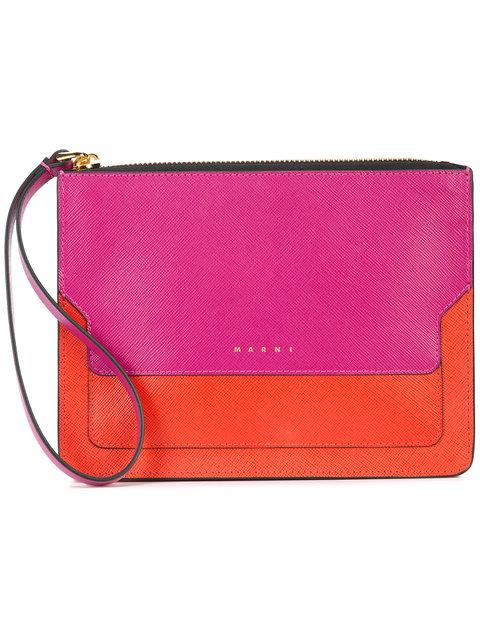 Marni Colour Blocked Wrist Wallet
