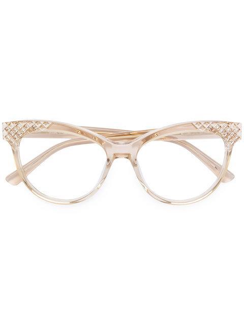 Mcm Embellished Cat Eye Glasses