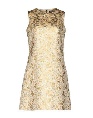 Dolce & Gabbana Short Dress In Gold