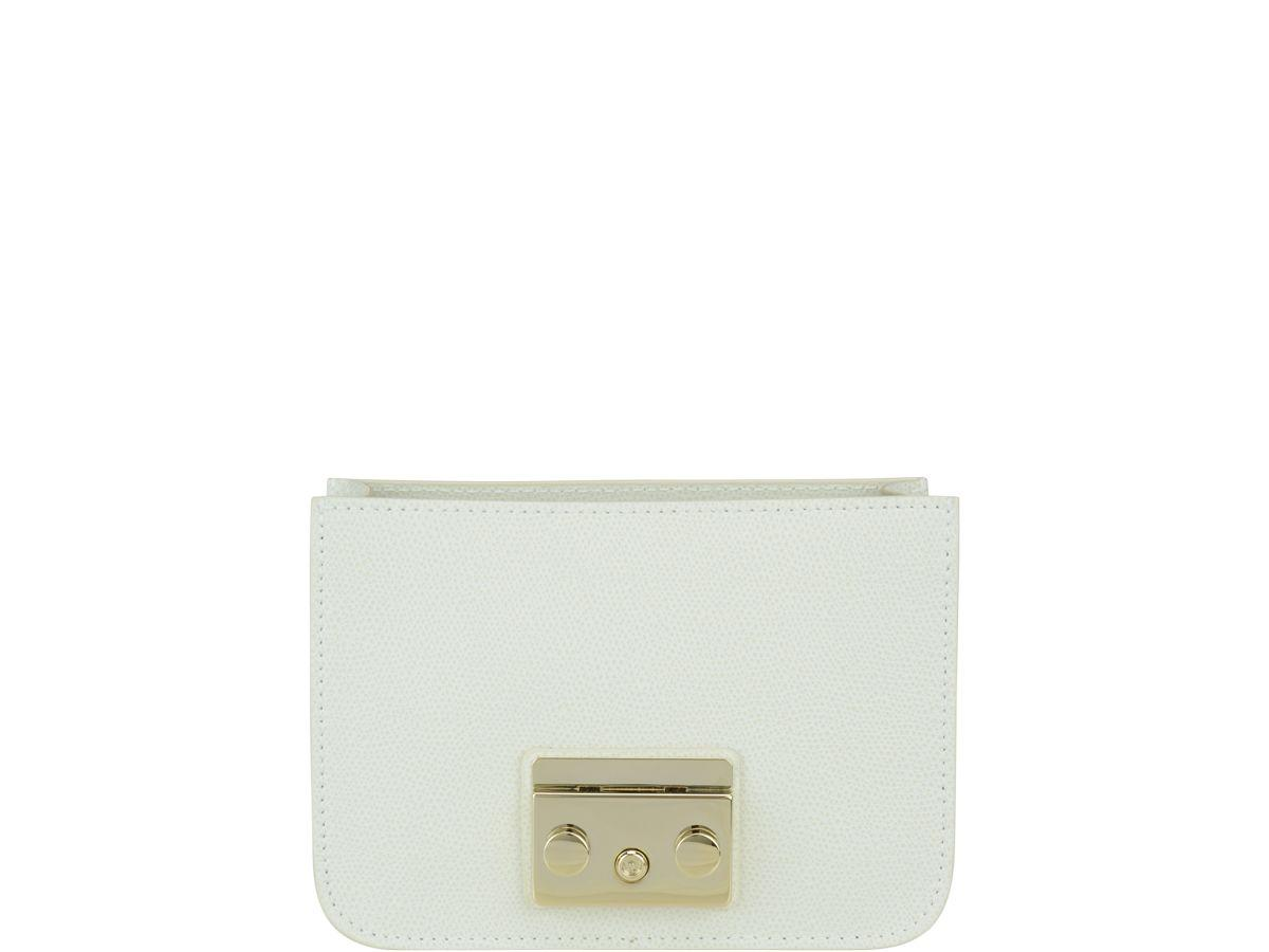Furla Mini Metropolis Bag In White