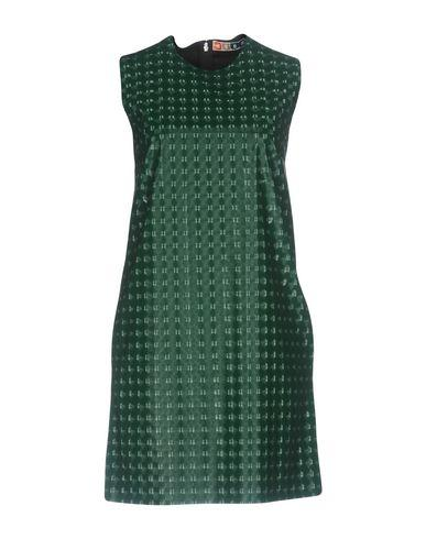 Msgm Short Dress In Green