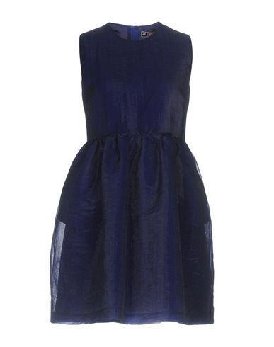 Msgm Short Dress In Bright Blue