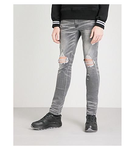 Amiri Thrasher Slim-Fit Skinny Jeans In Light Grey