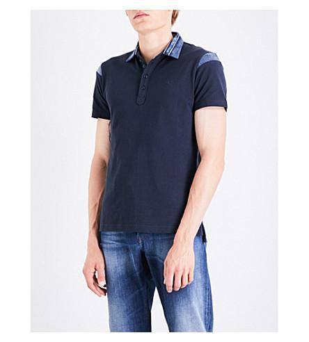 Diesel T-Jason Cotton-PiquÉ Polo Shirt In Black
