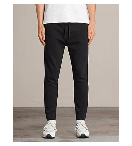 Allsaints Elders Neoprene Jogging Bottoms In Black
