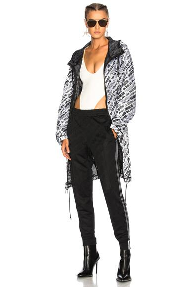 Adidas Originals By Alexander Wang Adidas By Alexander Wang Reversible Parka Jacket In Black,White