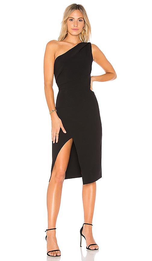 Finders Keepers Oblivion Black One-Shoulder Dress