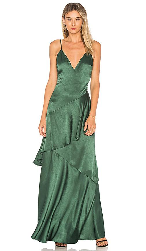 Lovers+Friends Coralie Dress In Emerald