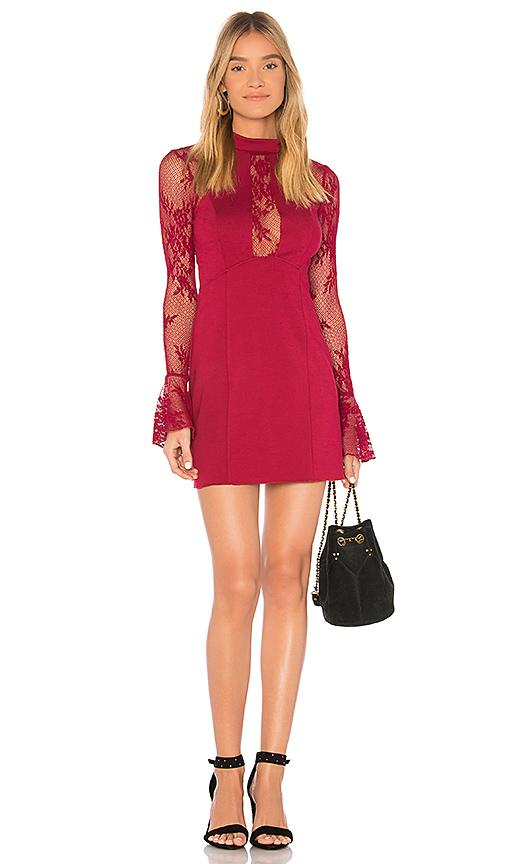 Free People It's Now Or Never Mini Dress In Red