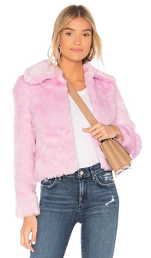 Eaves X Revolve Ryder Faux Fur Jacket In Pink