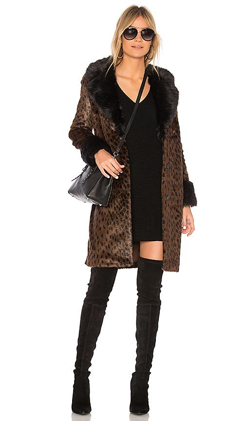 Eaves X Revolve Emmie Faux Fur Coat In Brown