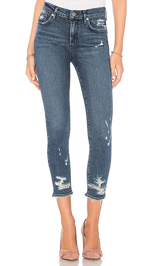 Agolde Sophie Distressed High Waist Crop Skinny Jeans In Paradox
