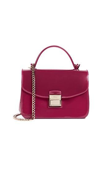 Furla Candy Sugar Mini Cross Body Bag In Mirto