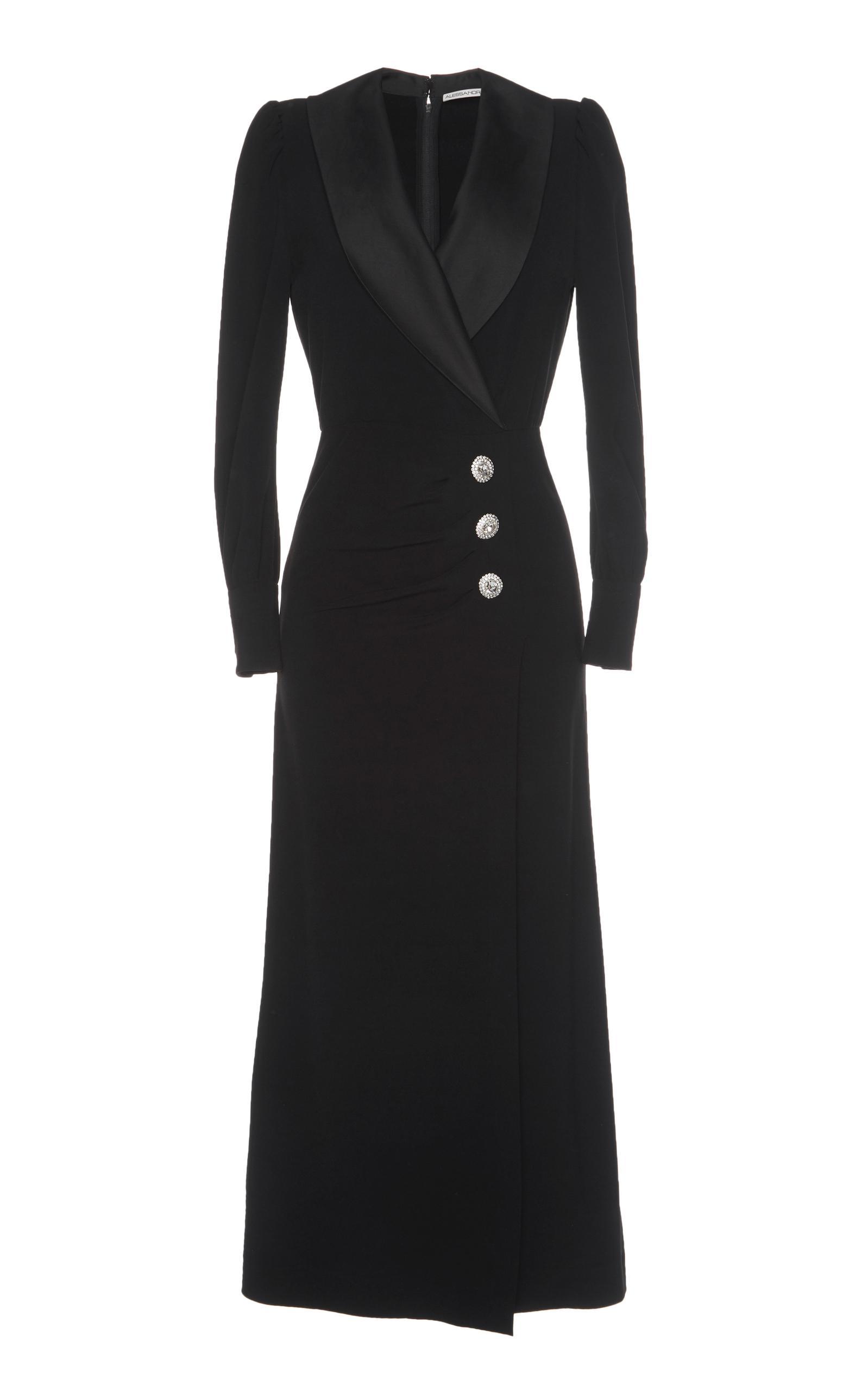 Alessandra Rich Long Hollywood SablÉ Dress In Black