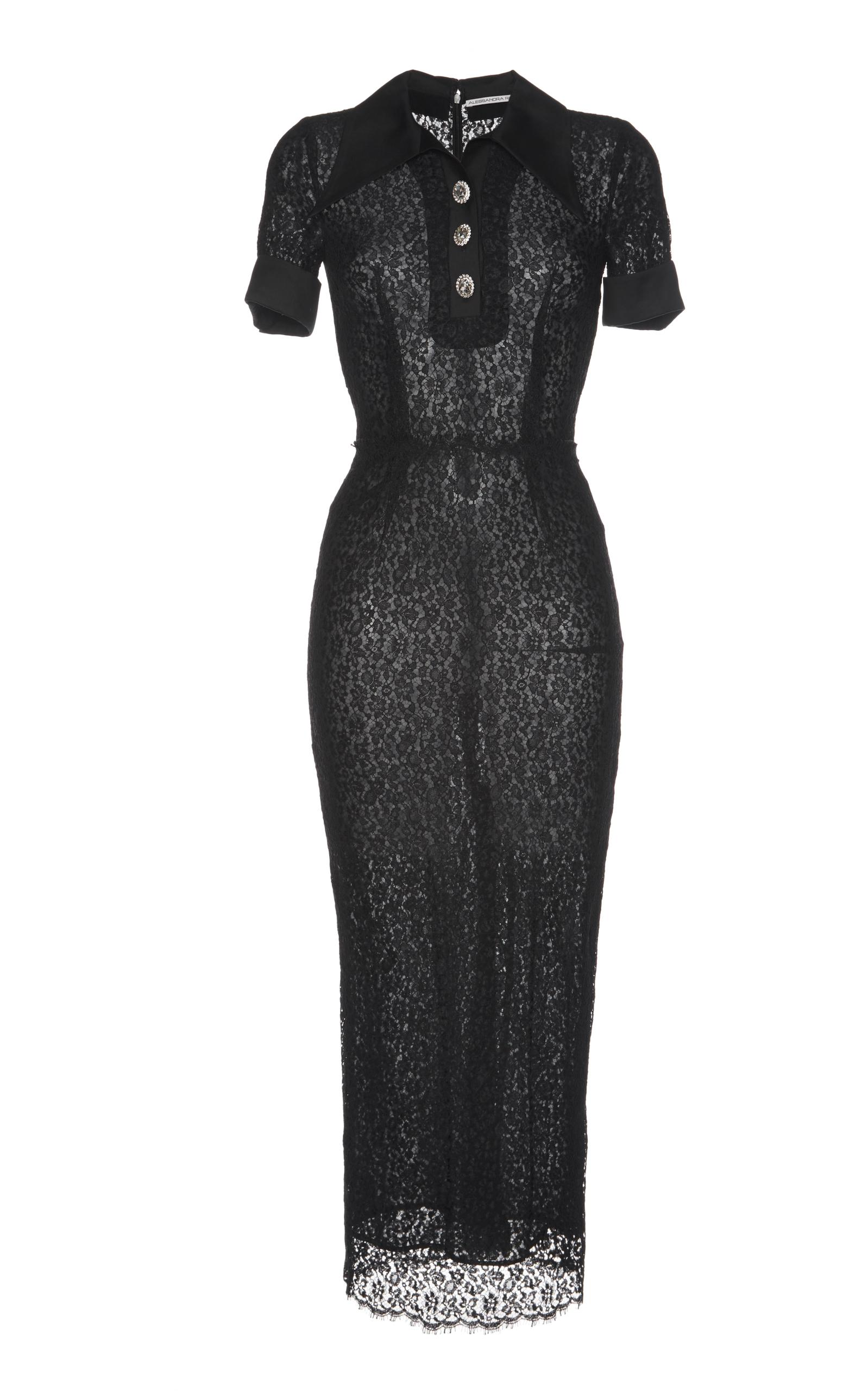 Alessandra Rich SablÉ Polo Dress In Black