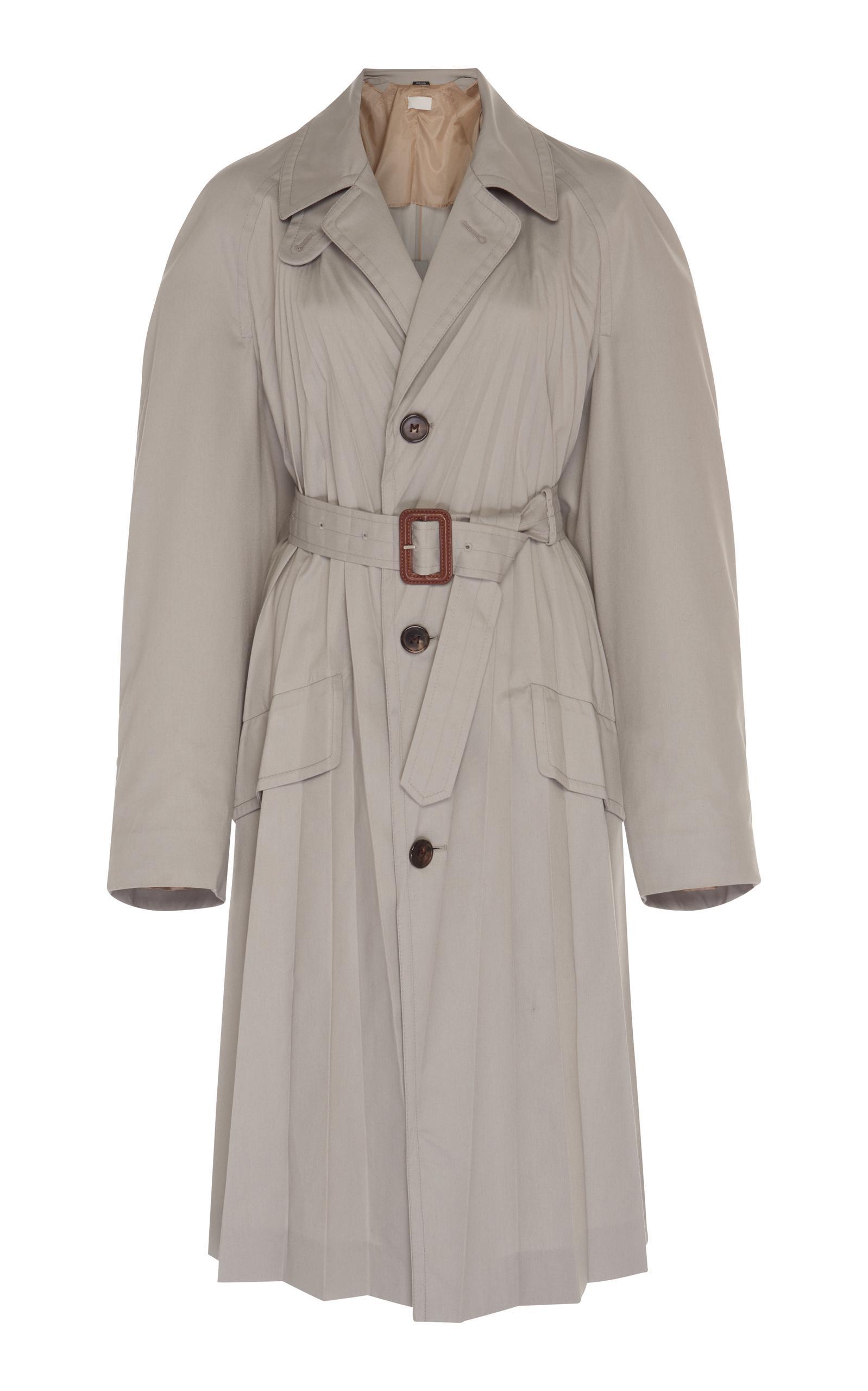 Maison Margiela Plisse Soleil Coat Dress In Grey