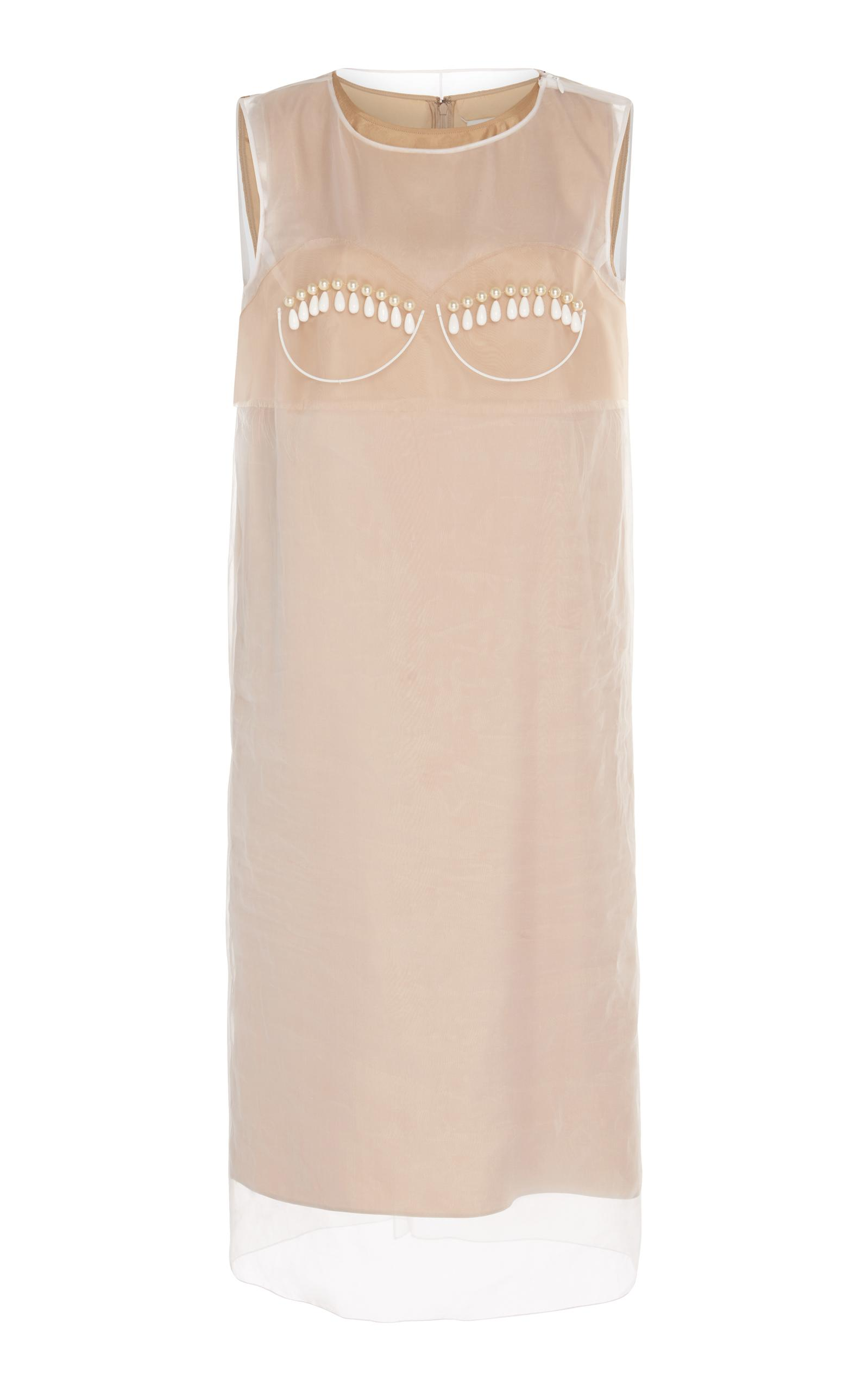 Maison Margiela Layer Sheath Dress In Neutral