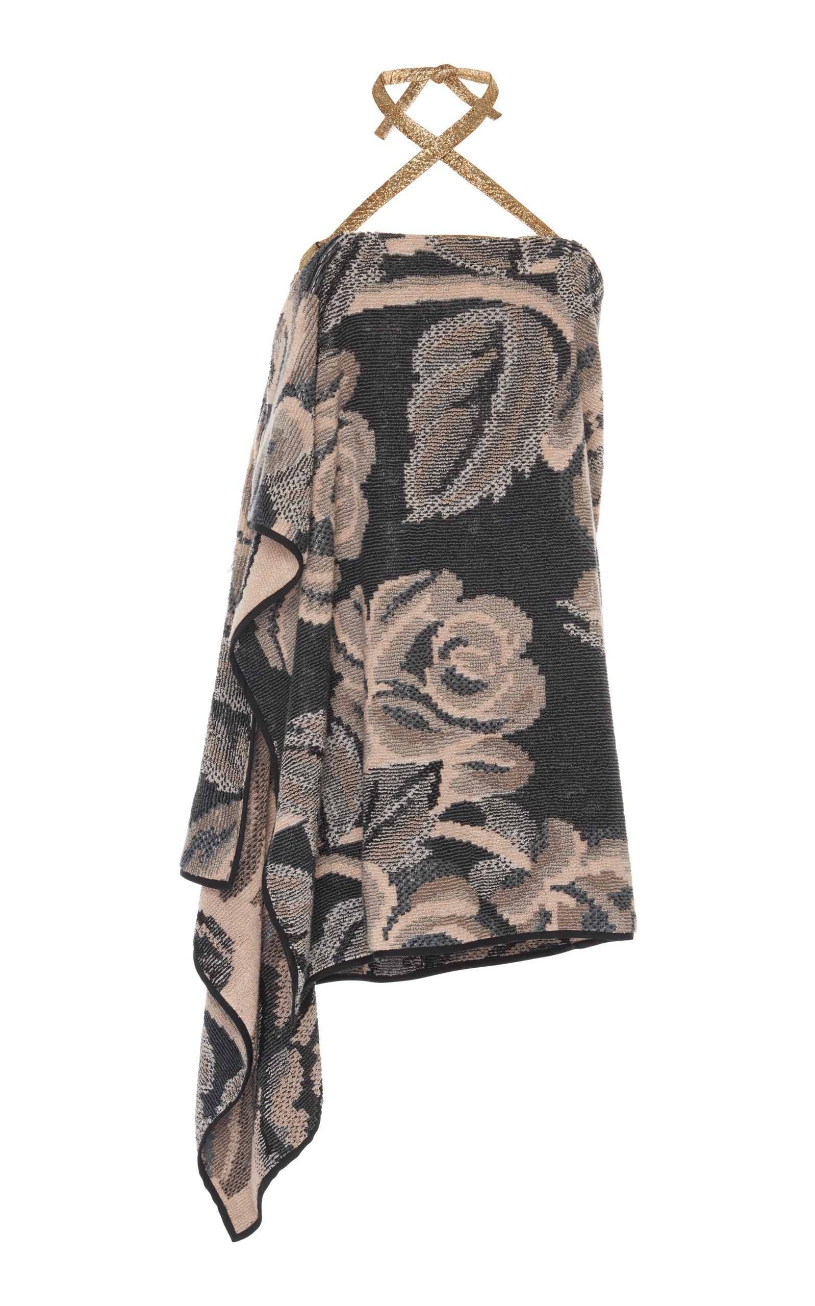 Maison Margiela Halter Knit Towel Dress In Multi