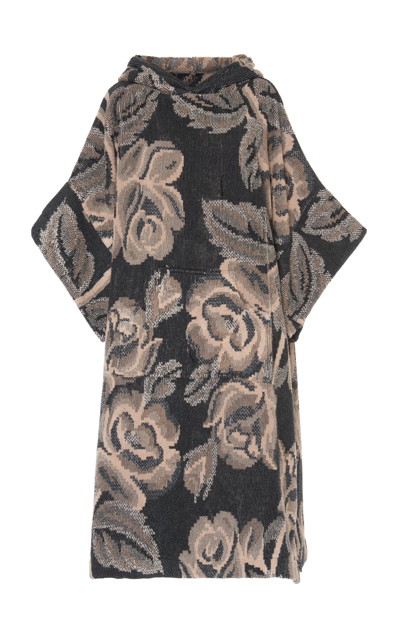 Maison Margiela Oversized Towel Poncho In Floral