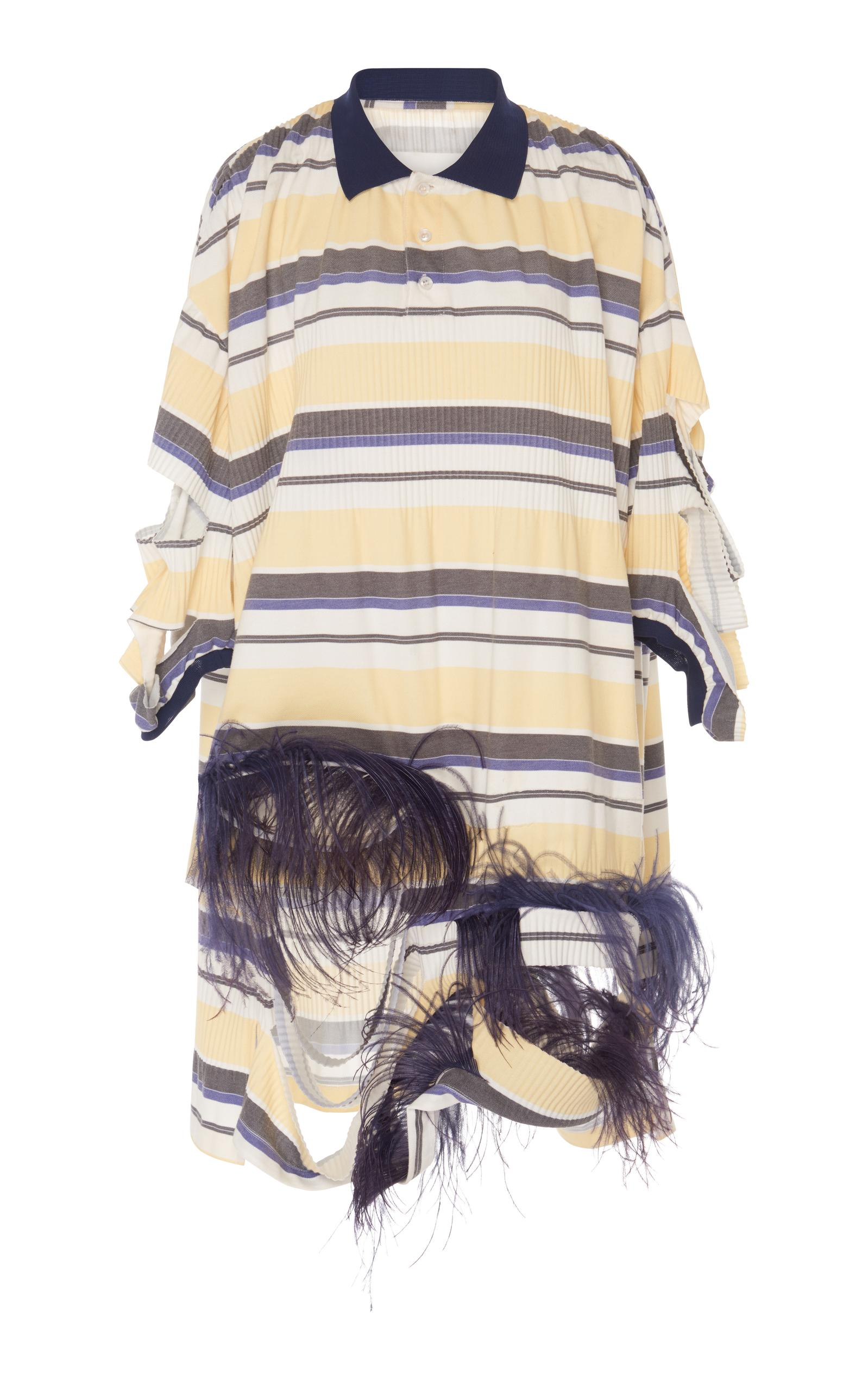 Maison Margiela Oversized Polo Shirt Dress In Multi