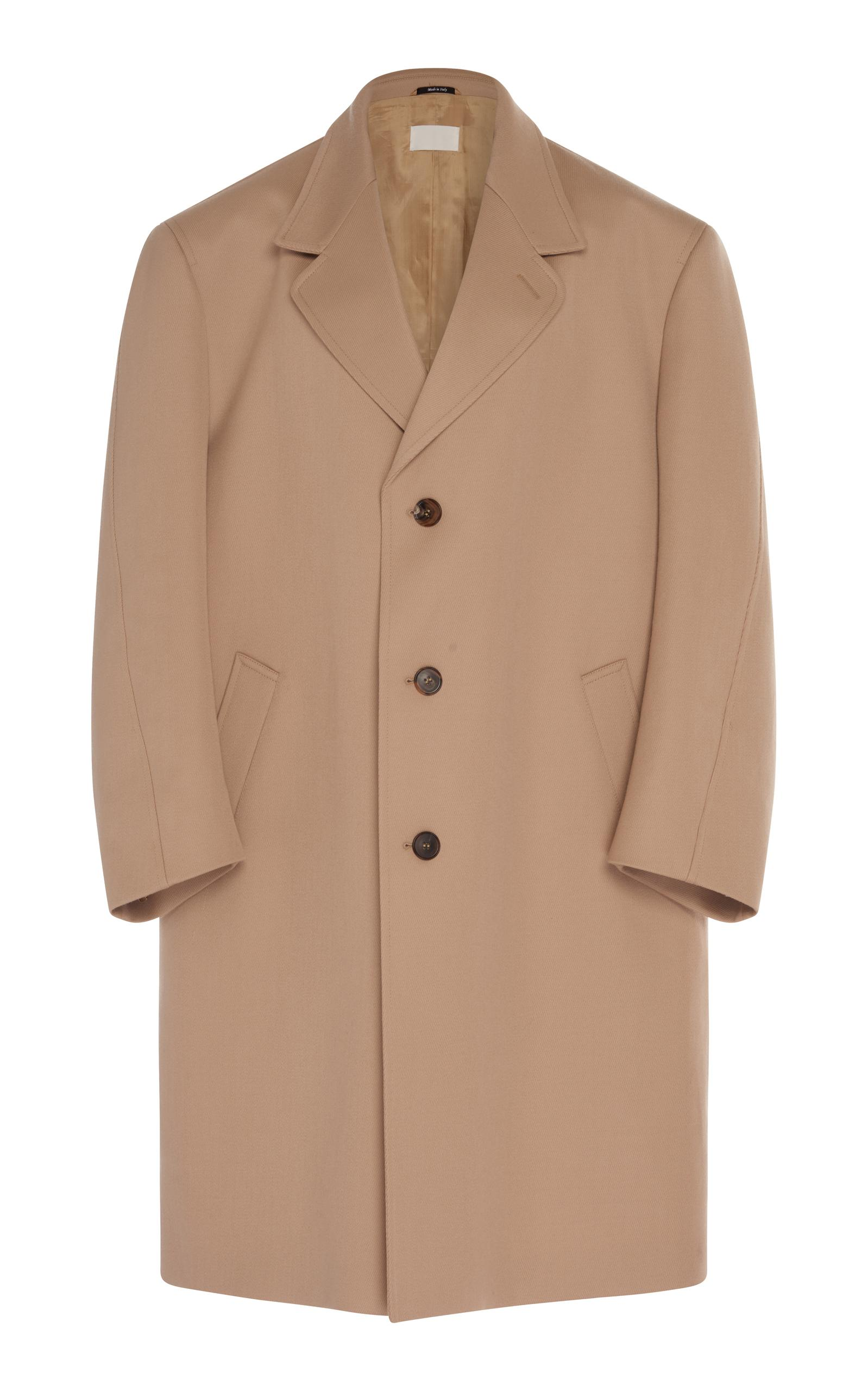 Maison Margiela Oversized Twill Coat In Brown
