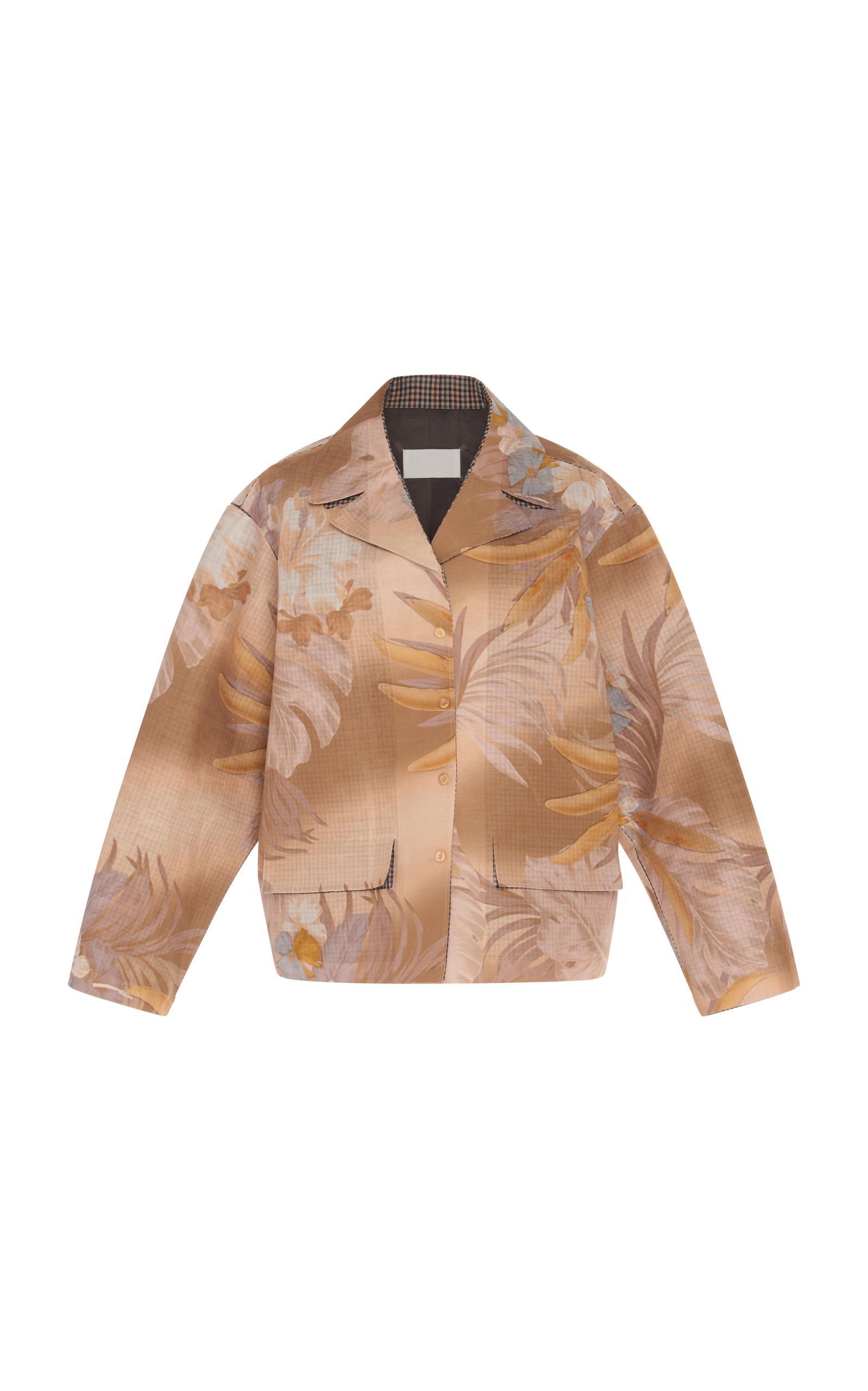 Maison Margiela Bonded Tropical Print Coat In Multi