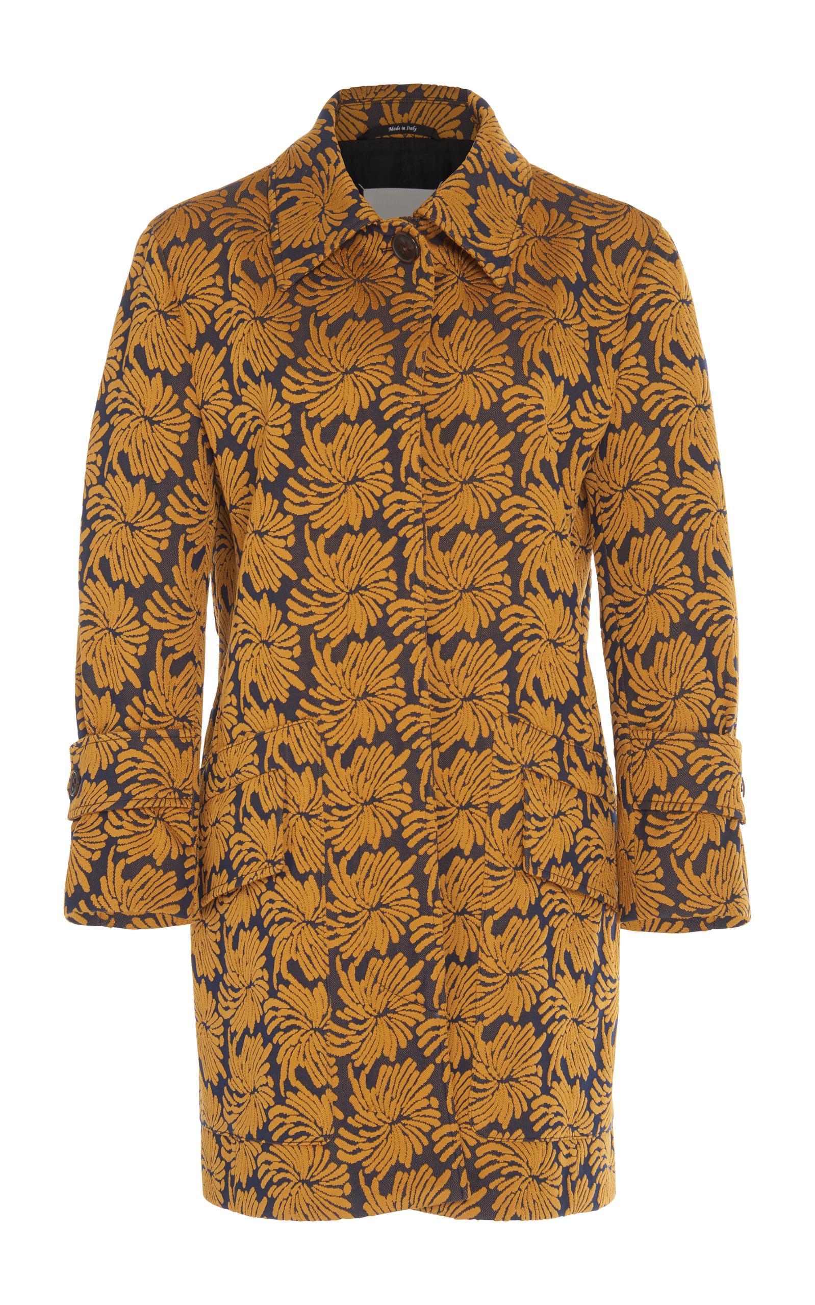 Maison Margiela Jacquard Button Down Coat In Multi