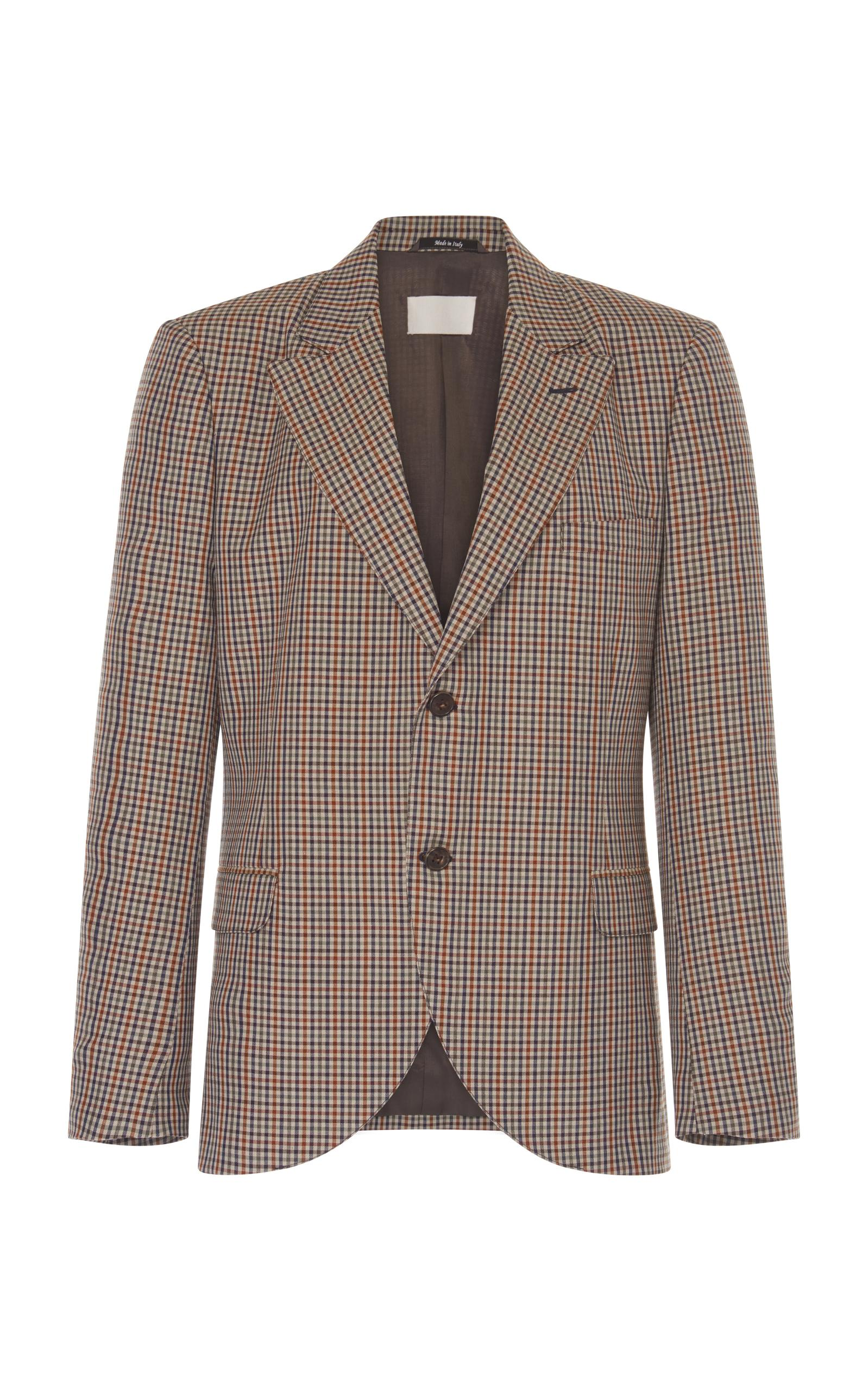 Maison Margiela Micro Check Relaxed Jacket In Plaid