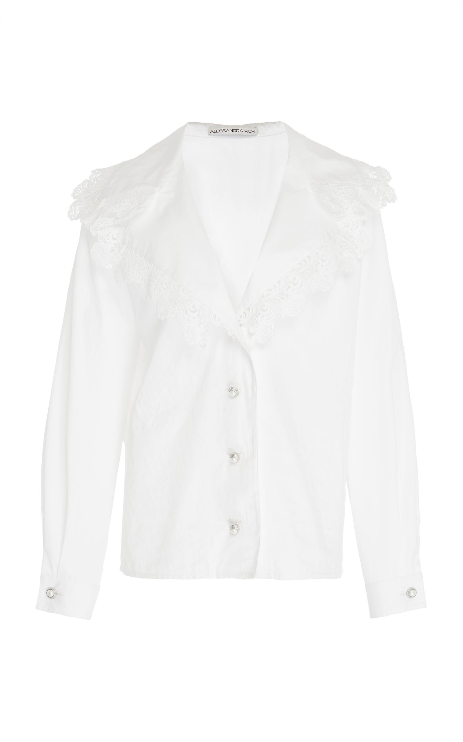 Alessandra Rich Long Sleeve Shirt In White