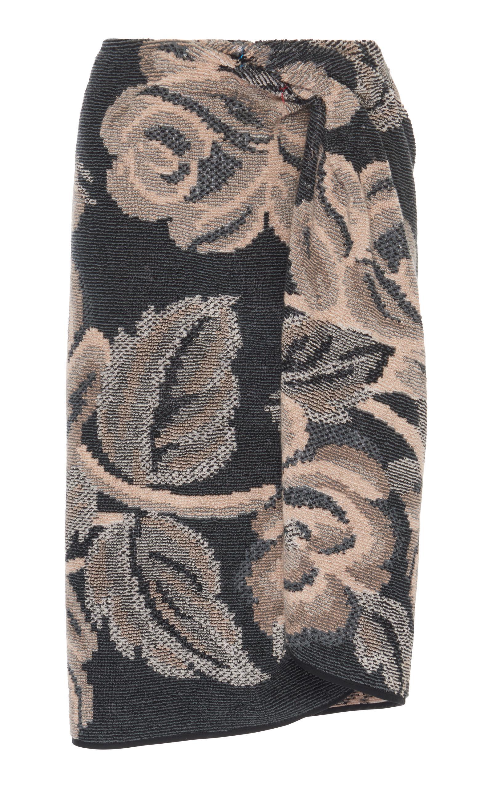 Maison Margiela Knit Towel Wrap Skirt In Multi