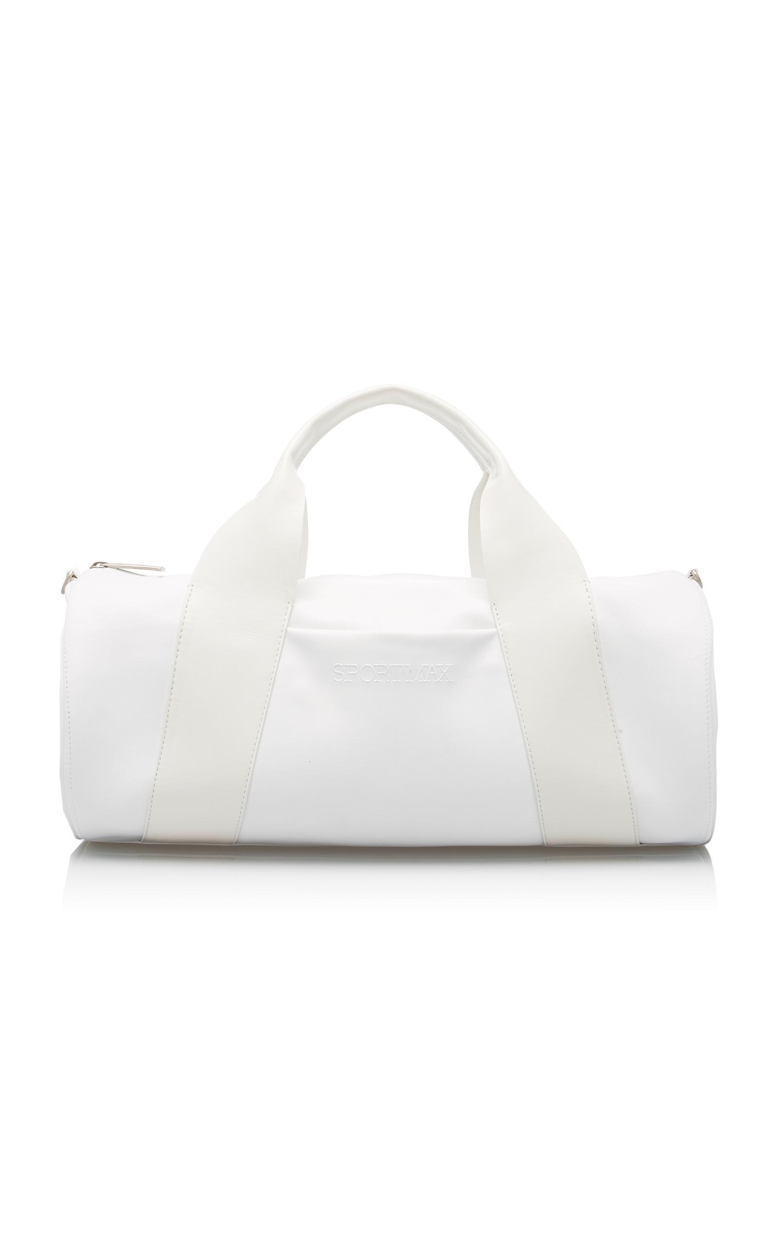 Sportmax Miglio Leather Duffel In White