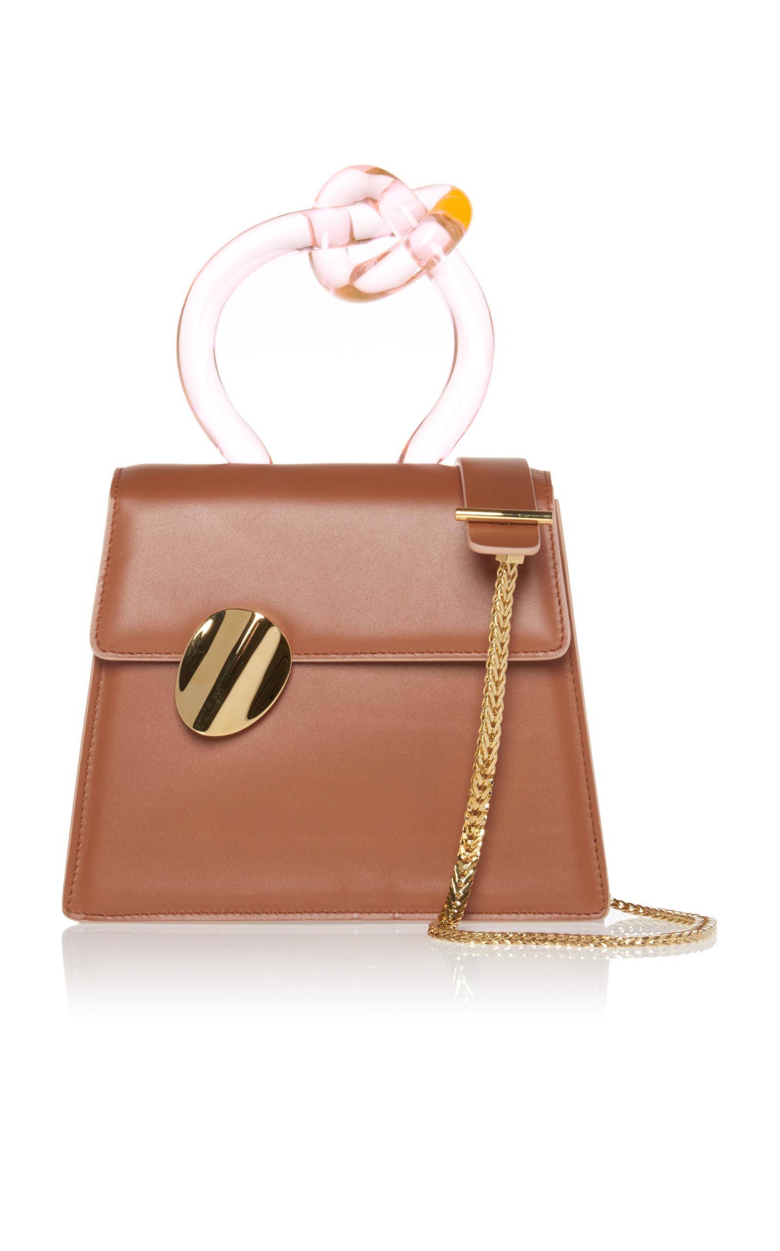 Benedetta Bruzziches Brigitta Top Handle Bag In Brown