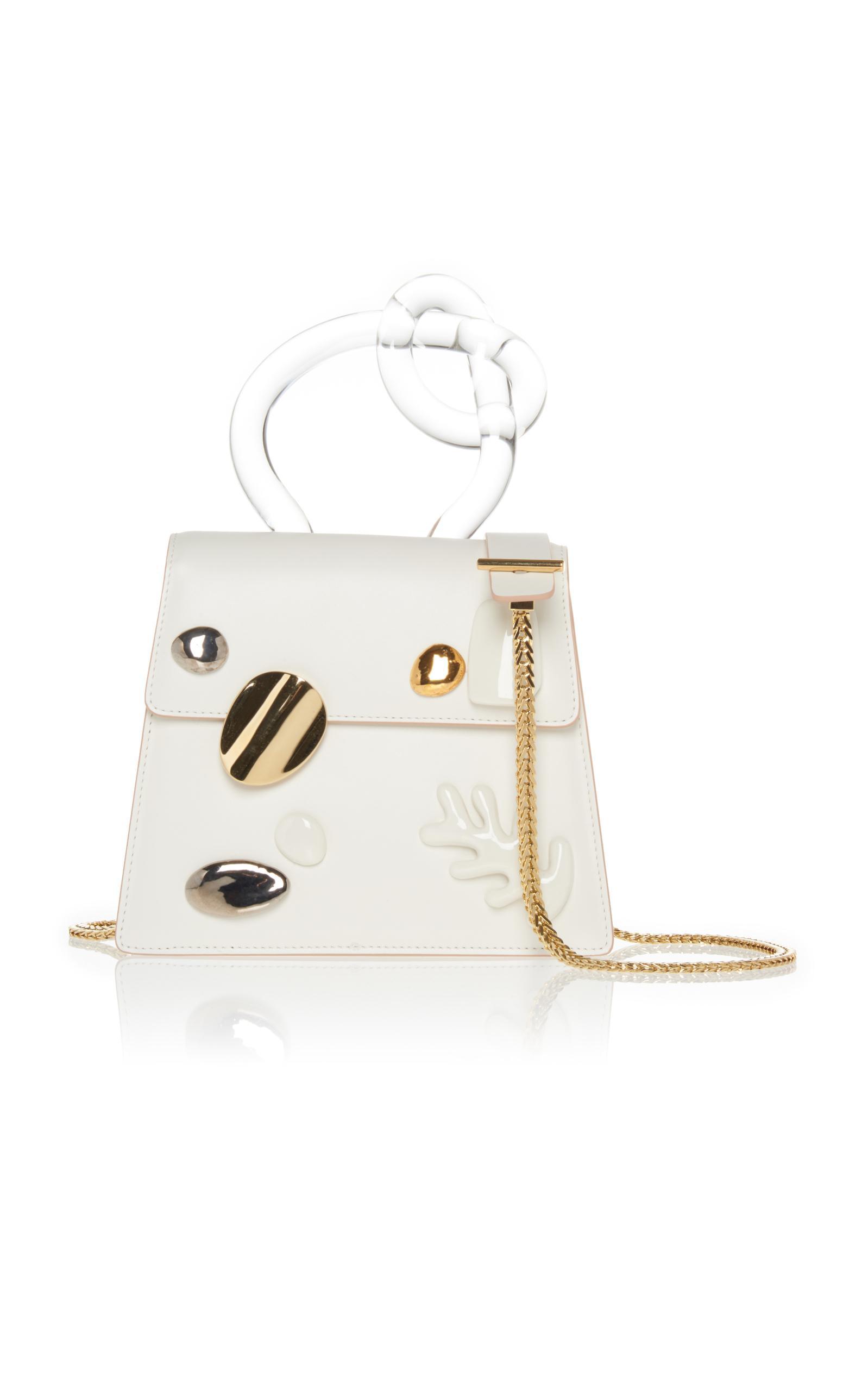 Benedetta Bruzziches Brigitta Top Handle Bag In White