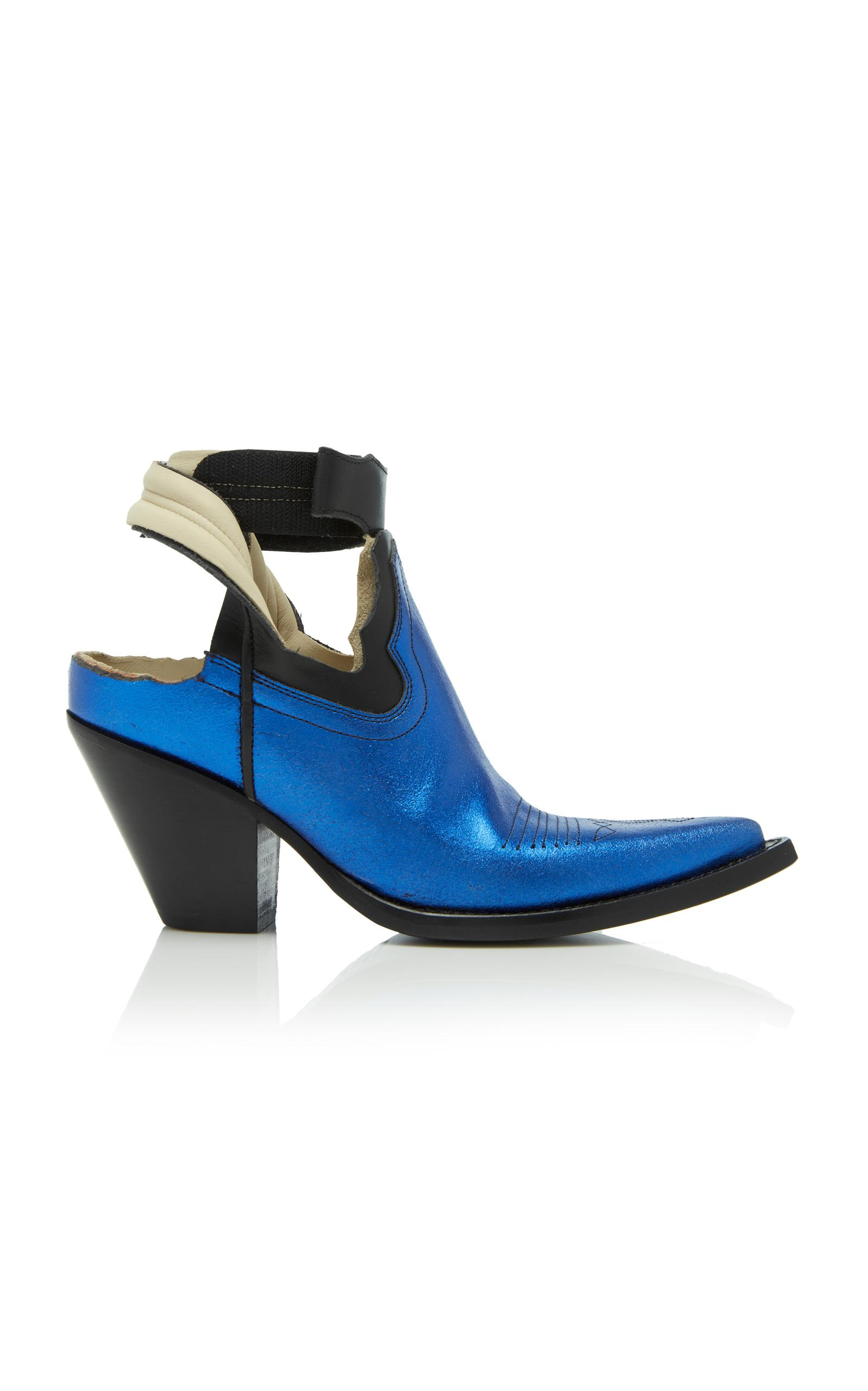 Maison Margiela Low Mexas Boot In Blue