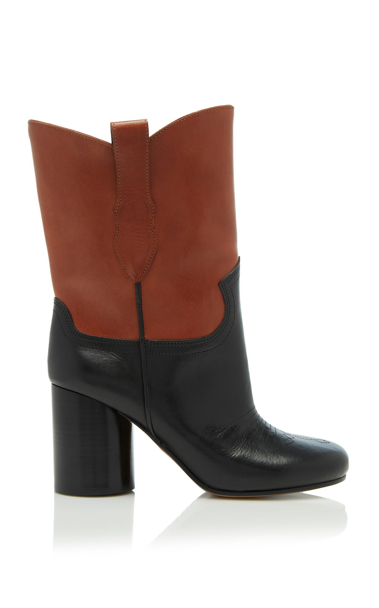 Maison Margiela Sock Contrast Boot In Black