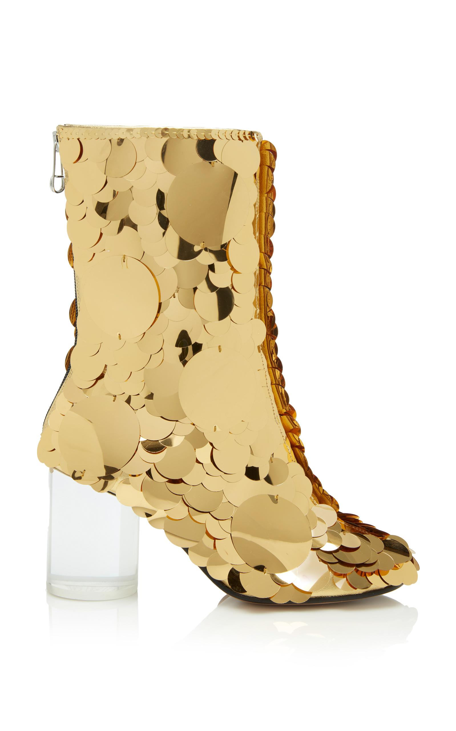 Maison Margiela Sock Paillettes Boot In Gold