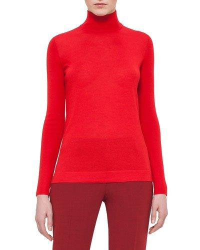 Akris Cashmere-Blend Turtleneck Sweater In Beige