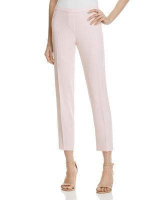 Elie Tahari Marcia Ribbon Inseam Ankle Pants In Pink