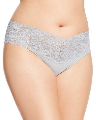 Cosabella Never Say Never Extended Lovelie Thong In Dove Gray
