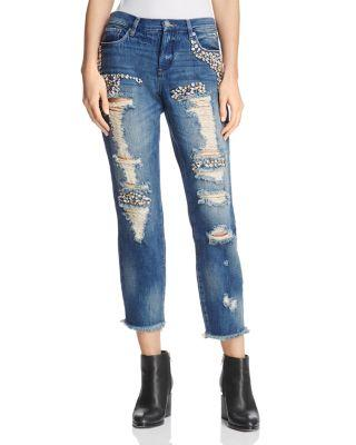 Blanknyc Rhinestone-Embellished Girlfriend Jeans In Bedazzled - 100% Exclusive