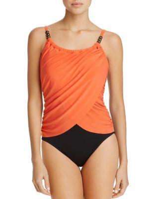 Magicsuit Lisa One Piece Swimsuit In Flamingo Orange
