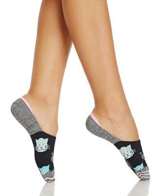 Happy Socks Cat Liner Socks In Black
