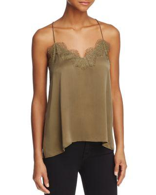 Cami Nyc Lace-Trimmed Racerback Top In Olive