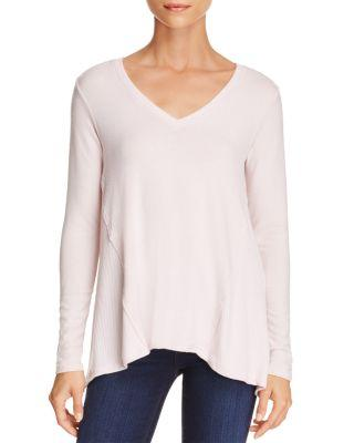Michael Stars Arched Hem Top In Sweet Pea
