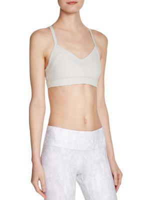 Alo Yoga Becka Sports Bra In Vapor Grey