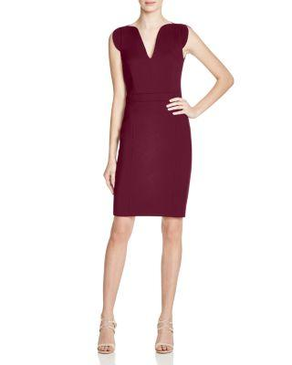 French Connection Lolo Stretch Dress In Zinfandel