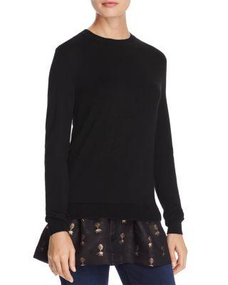 Ted Baker Temara Spectacular Layered-Look Sweater - 100% Exclusive In Black