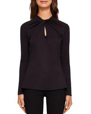 Ted Baker Ceecea Twist-Neck Top In Black