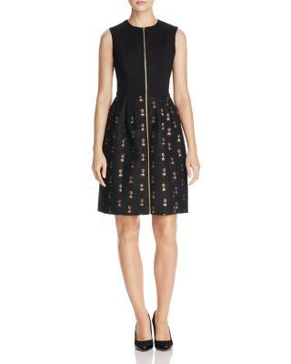 Ted Baker Bechet Spectacular Jacquard Dress - 100% Exclusive In Black
