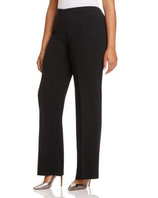 Marina Rinaldi Riva Straight Pants In Black